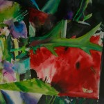 Watercolour sketch for Fragmented Landscape